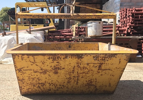 Ferro edilizia - benna da cantiere - usato
