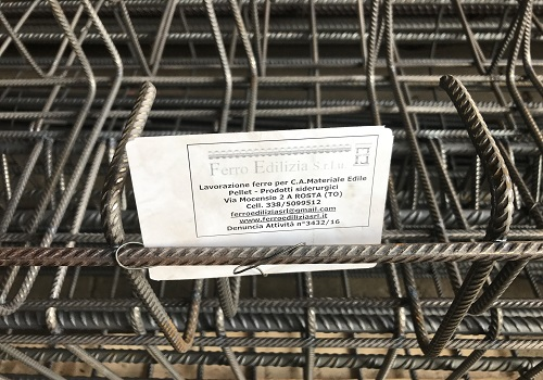 Ferro edilizia tracciabilità materiale